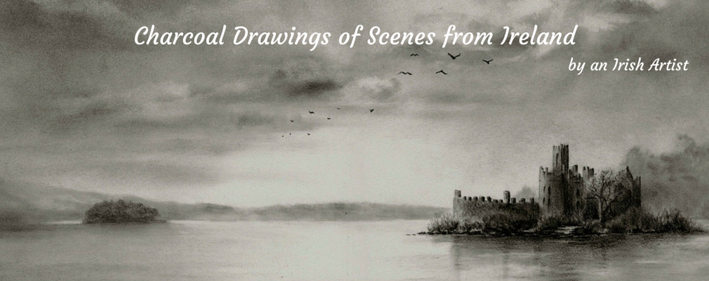 Charcoal Drawings of the beautiful Irish landscape