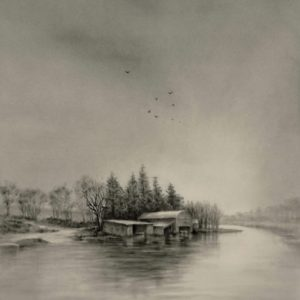 Charcoal Drawing Boyle River Co. Roscommon