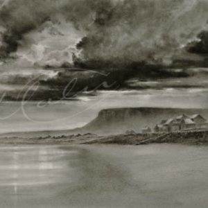Charcoal Drawing Strandhill Co. Sligo