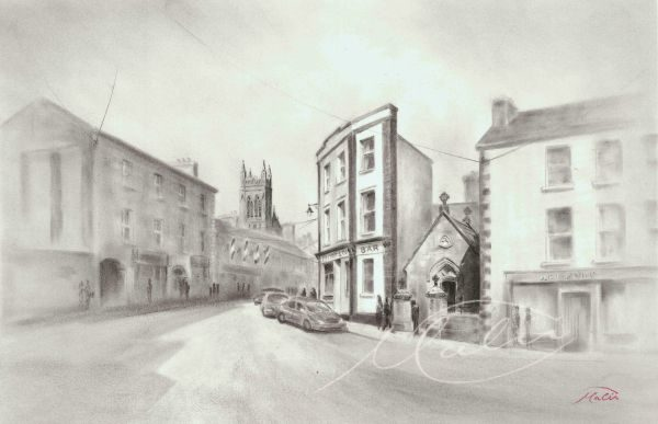Charcoal Drawing Carrick on Shannon