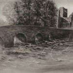 Charcoal Drawing Boyle Abbey Co. Roscommon
