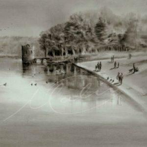 Charcoal Drawing Rockingham Boyle Co. Roscommon