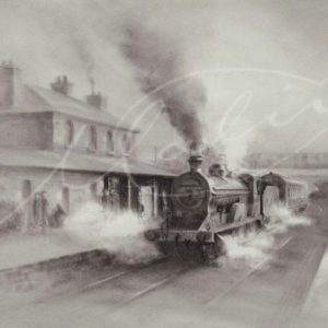 Charcoal Drawing Steam Train Boyle