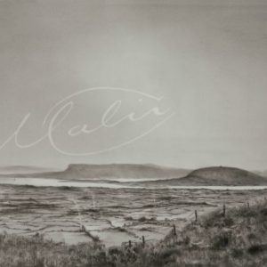 Charcoal Drawing Knocknarea Benbulben Co. Sligo